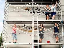 Muurschildering vrolijkt Nieuwegeinse buurt op