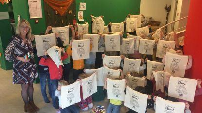 Kinderen buitenschoolse opvang kleuren canvaszakken pleegzorg