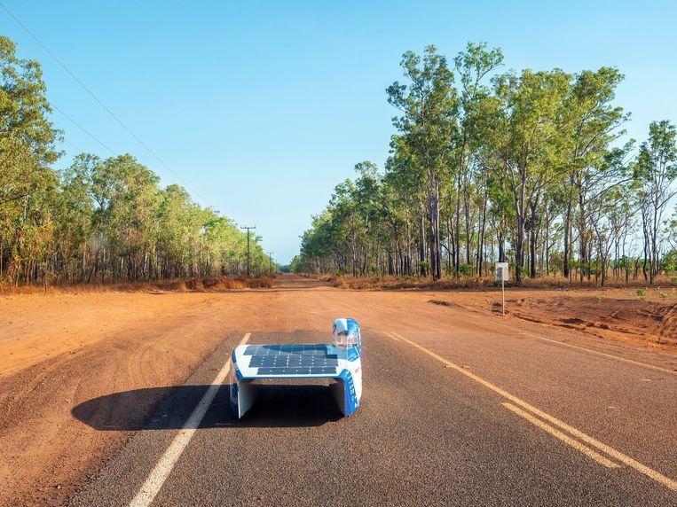De Bluepoint van de Leuvense studenten staat zondag aan de start van de race in Australië.