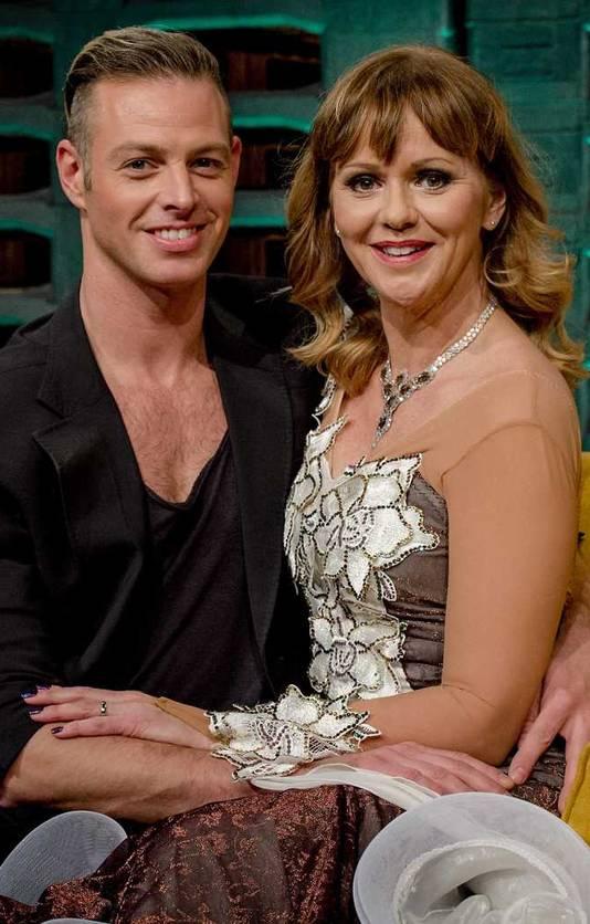 Manon Thomas en haar danspartner Peter Schaur.