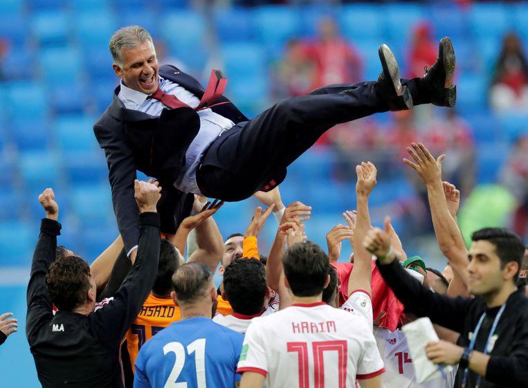 Carlos Queiroz gaat de lucht in nadat Iran op het voorbije WK in de poulefase Marokko klopte.