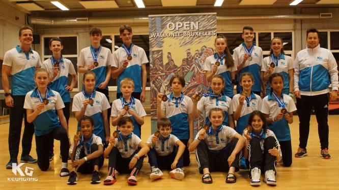 Taekwondo Keumgang uit Diest kaapt veertien gouden medailles weg op internationale wedstrijd in Brussel