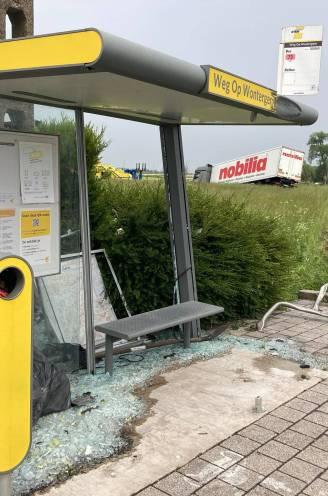 Spectaculair ongeval met vrachtwagen, tractor en personenwagen: twee gewonden en bushokje vernield