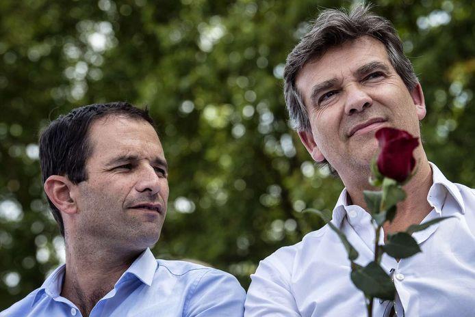 Benoît Hamon et Arnaud Montebourg