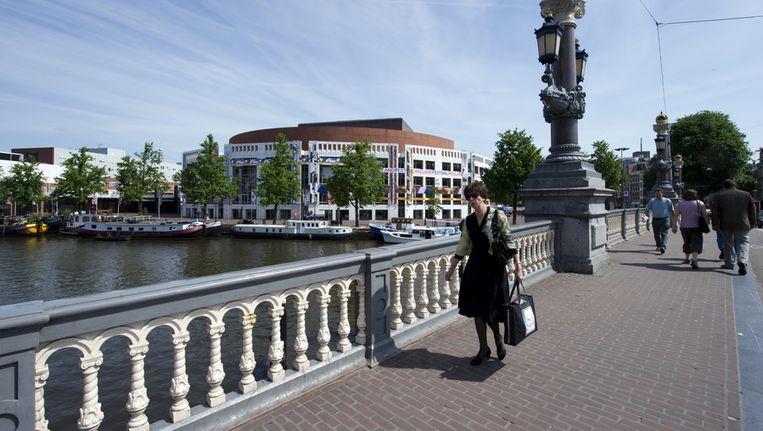De Stopera gezien vanaf de Amstel. Beeld ANP