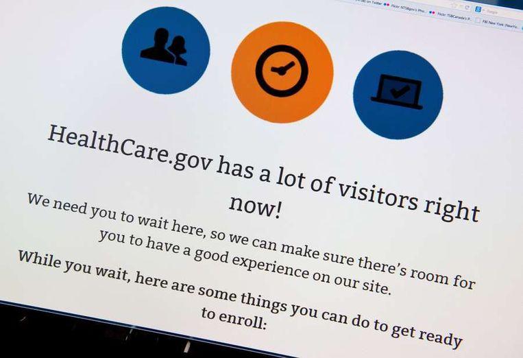 Foutmelding Healthcare.gov Beeld AFP