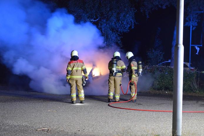 Auto in vlammen op in Boxtel.
