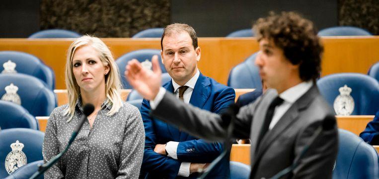 Lilian Marijnissen (SP), Lodewijk Asscher (PVDA) en Jesse Klaver (Groenlinks) Beeld anp