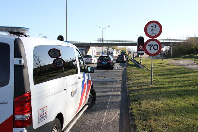 Bij de aanrijding waren drie auto's betrokken.