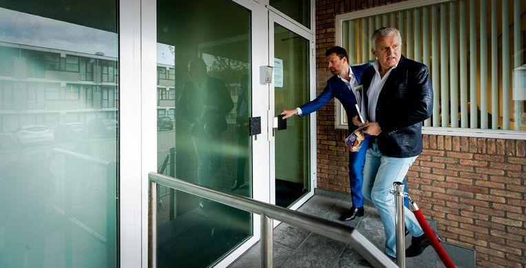 Misdaadverslaggever Peter R. de Vries werd gehoord door de rechtbank. Beeld anp