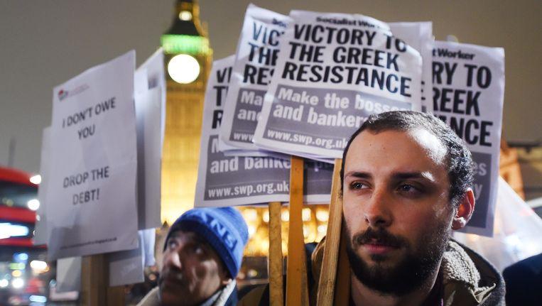 Momenteel wordt er ook geprotesteerd in Griekenland. Beeld EPA
