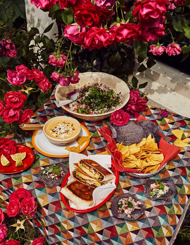 Yvette's Mexicaanse picknick. Beeld Oof Verschuren