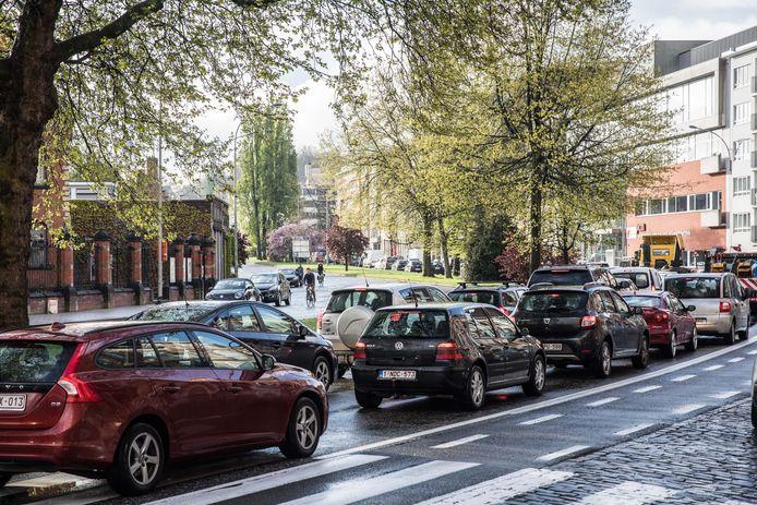 Beeld ter illustratie: de komende weken wordt op enkele plaatsen op de Gentse stadsring nog wat extra file verwacht.