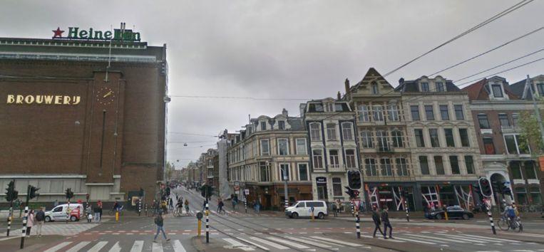 Het drukke kruispunt bij de Stadhouderskade en Ferdinand Bolstraat. Beeld Google Streetview