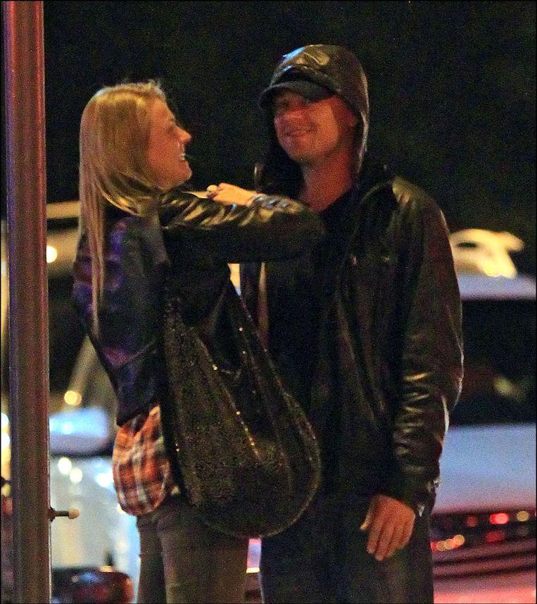 Leo en een mysterieuze blondine enkele weken terug. Beeld PHOTO_NEWS