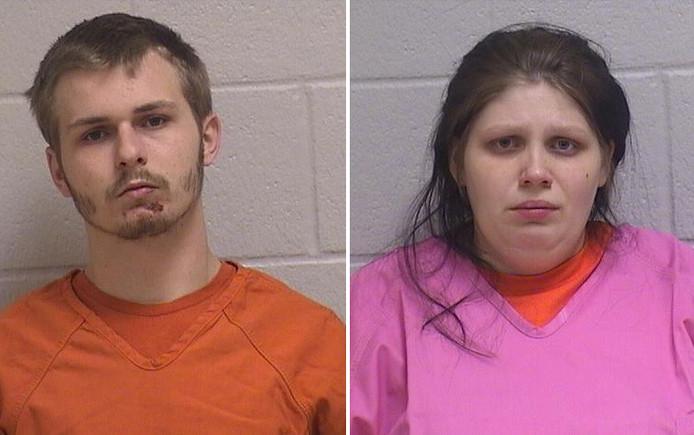 Crystal Morrow (24) en haar 19-jarige vriend Dustin Harley.