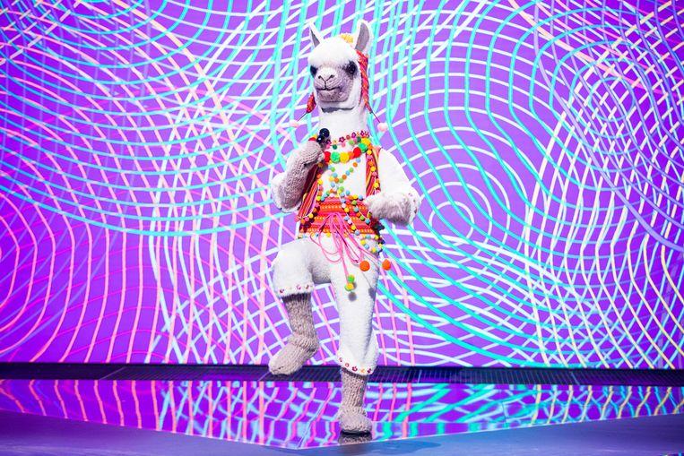 De lama in The Masked Singer Beeld RTL4
