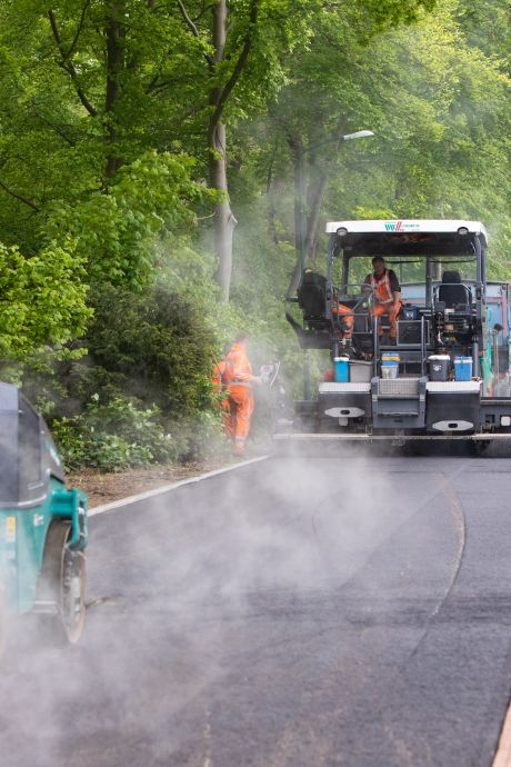 Pas op! Slipgevaar na asfaltering N228 bij Oudewater