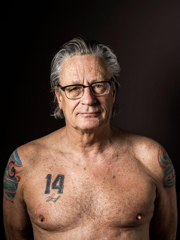 Alain Timmers: 'Ik heb van hem geleerd mijn poot stijf te houden. Als ik ergens in geloof, laat ik me niet afleiden door bijzaken.' Beeld Jiri Büller / de Volkskrant
