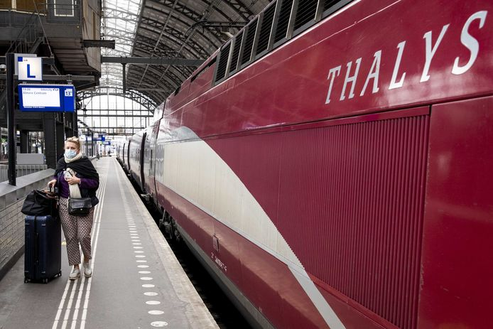 De Thalys in Amsterdam.
