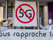 L'action anti-5G d'Extinction Rebellion au siège de Proximus