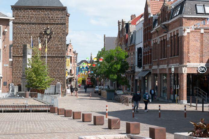 Het was rustig in de straten in Aarschot.