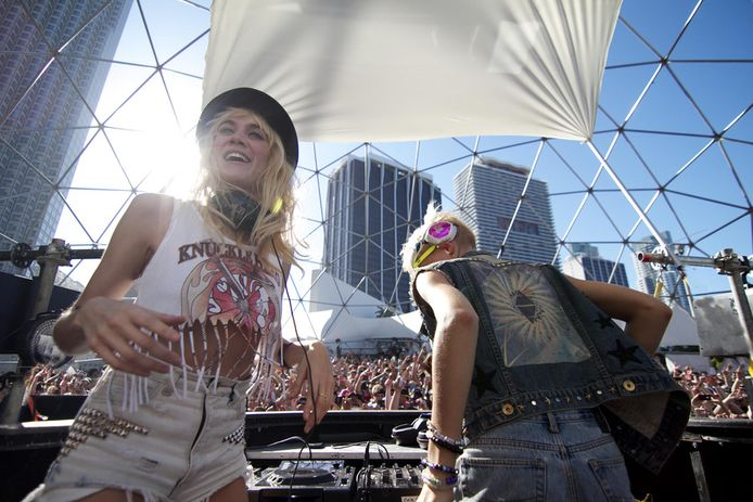 Nervo eerder dit jaar op Ultra Music Festival in Miami.