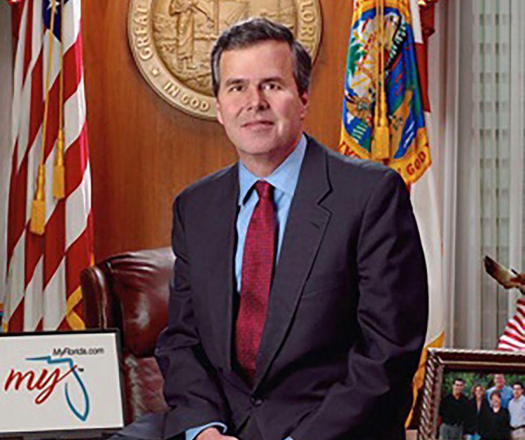 Jeb Bush als gouverneur van de staat Florida, eind jaren 90. Beeld state of florida