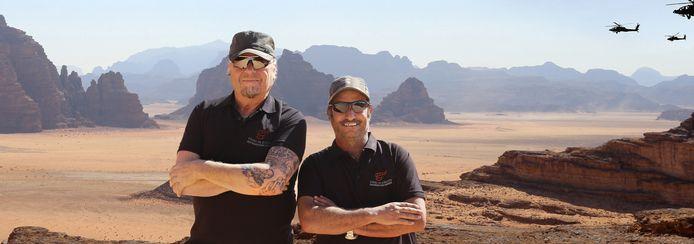 Harry Klunder en zijn compagnon in Jordanie.