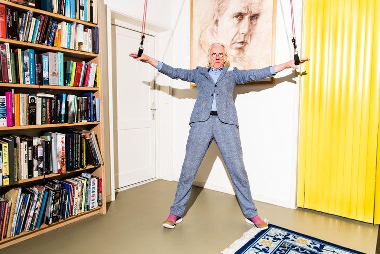 Freek  de Jonge hangt in de ringen voor zijn verkiezingsconference De loterij.  Beeld Jan Mulders