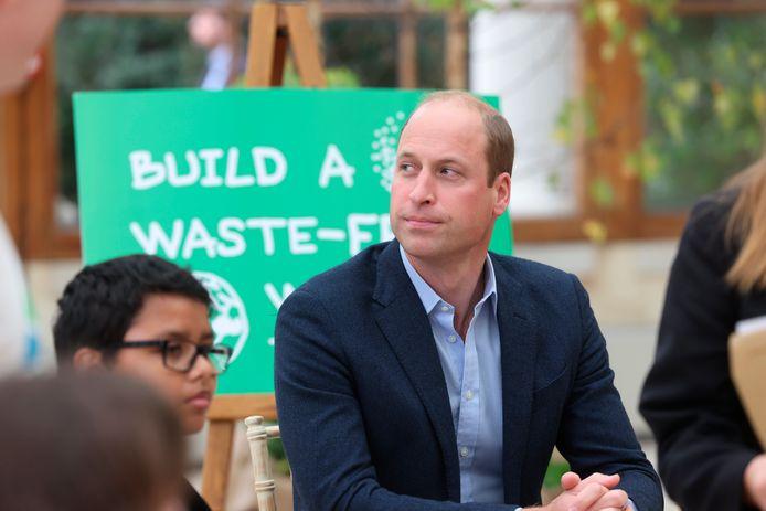 Prins William woensdag bij een bezoek aan een school in Londen.