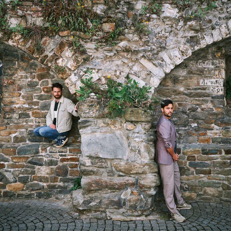 Wim Peumans en Haroon Ali. Beeld Thomas Sweertvaegher