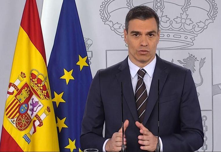 Spaans premier Pedro Sanchez.