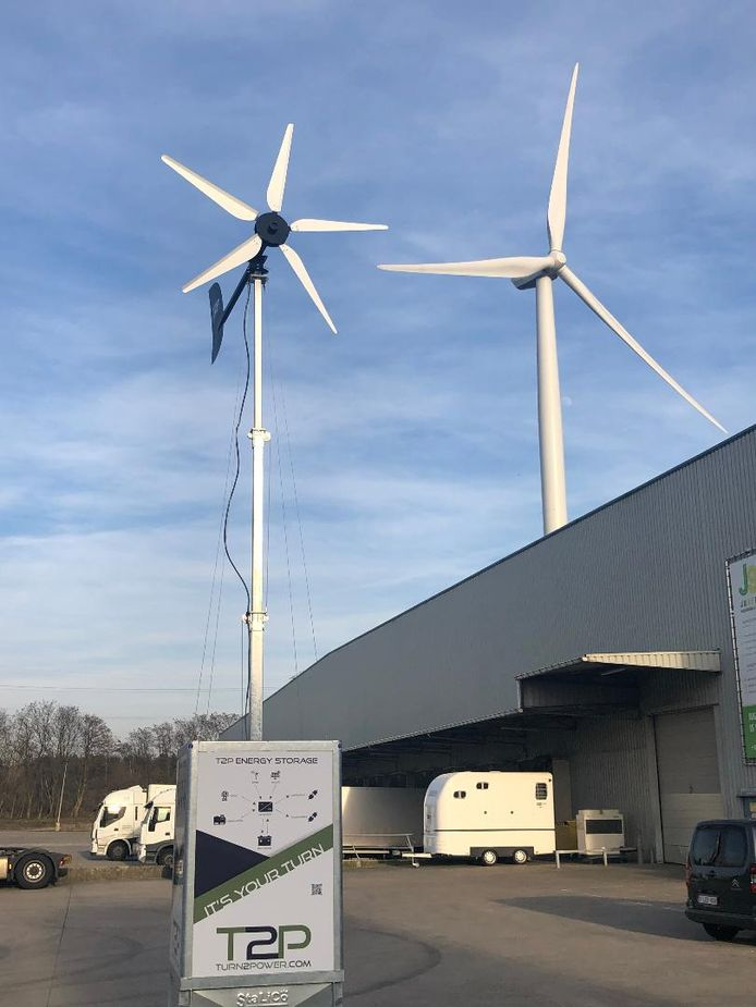 Het Natural Highs Festival laat een gelijkaardige, mobiele windturbine plaatsen op de Netedijk.