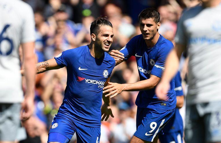 Fabregas en Morata bezorgden Chelsea een vlott zege. Beeld epa