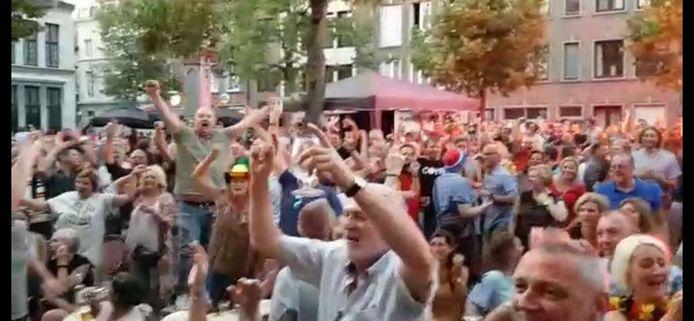 De Vrijdagmarkt tijdens het WK in 2018.