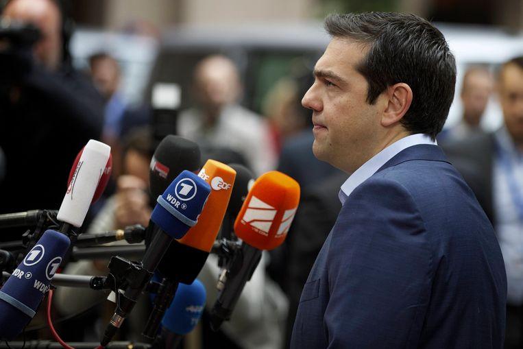 De Griekse premier Alexis Tsipras. Beeld BELGA