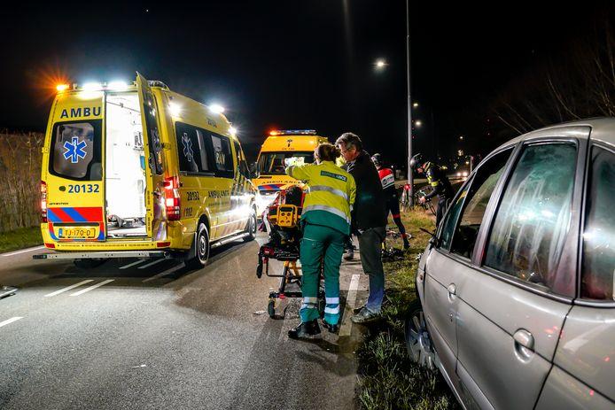 Drie wielrenners raakten gewond bij de botsing