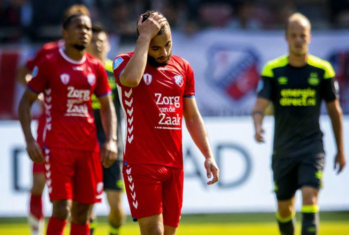 24 september 2017: Zakaria Layad treurt na weer een goal van PSV.