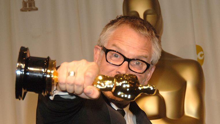 Hopkins met zijn Oscar voor het geluid in King Kong, in 2006 Beeld Brunopress