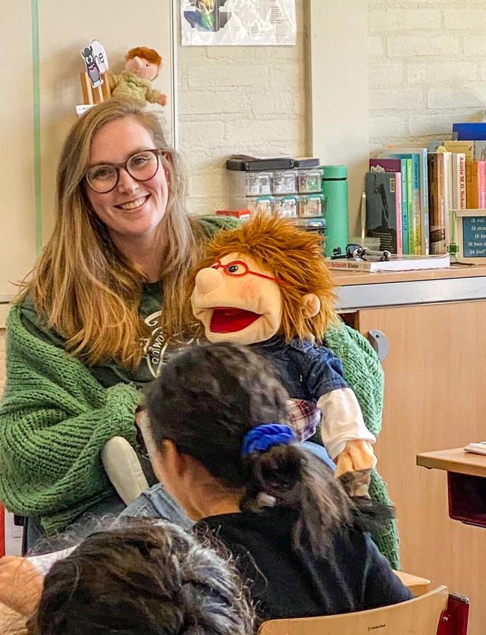 Groep 4-juf Monique van Houdt van basisschool De Parel in Rotterdam.