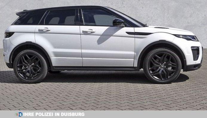 Een gestolen Range Rover.