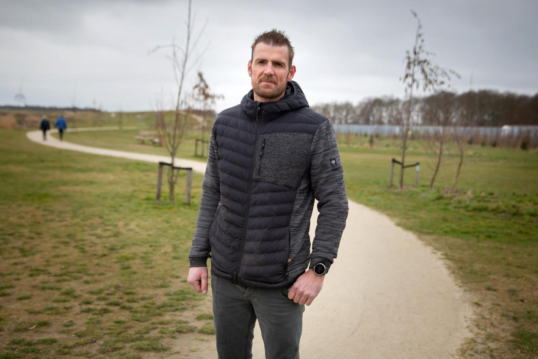 Bertus Benjamins verzorgde met zijn bedrijf Nobre Cál de aanleg van het duurzame wandelpad in Harderwijk.