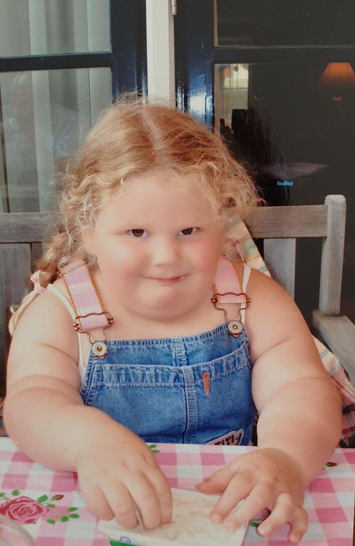 Alexandra Jubels rond haar 4de jaar.