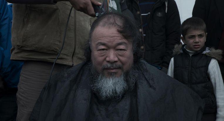 Ai Weiwei in Human Flow. Beeld