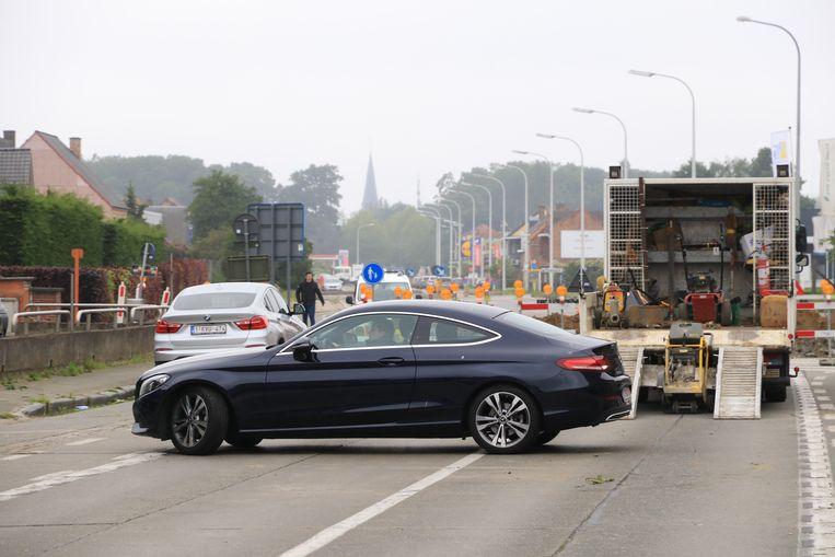 Chauffeurs die zich vastreden op de werf, moesten noodgedwongen rechtsomkeer maken.