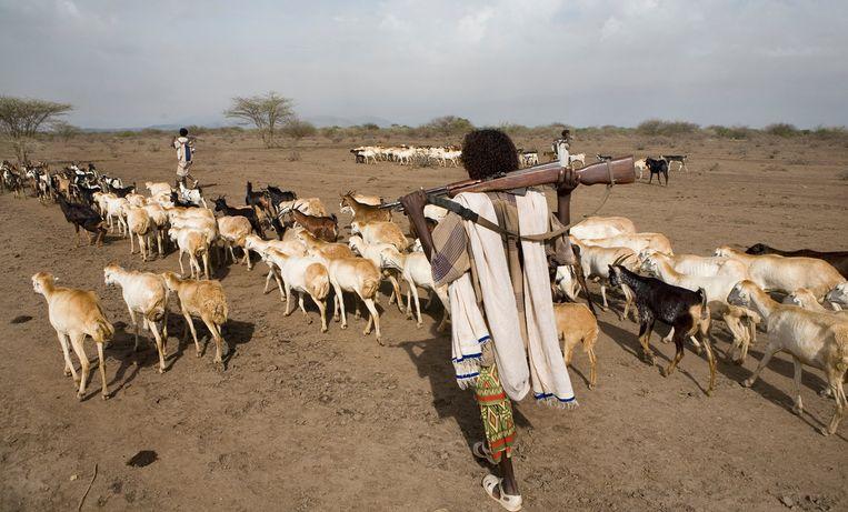 Nomaden in Ethiopië. Beeld Ton Koene