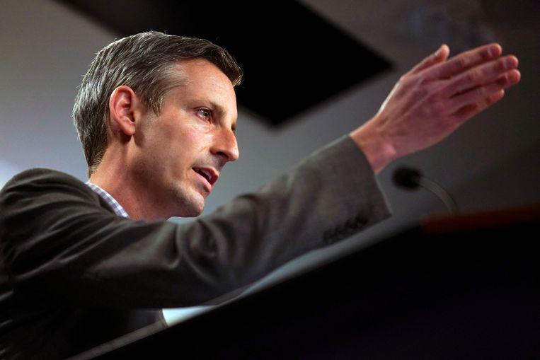 Woordvoerder van het Amerikaanse ministerie van Buitenlandse Zaken Ned Price. Beeld AFP
