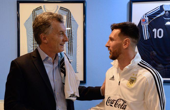President Mauricio Macri en Lionel Messi.