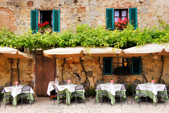 Restaurant in het buitenland.